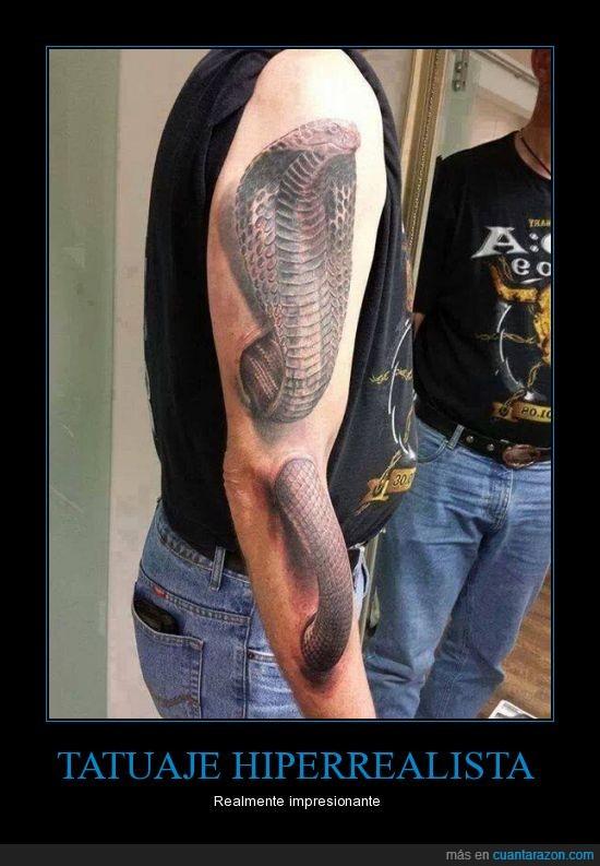 cobra,entrar,impresionante,salir,serpiente,tatuaje