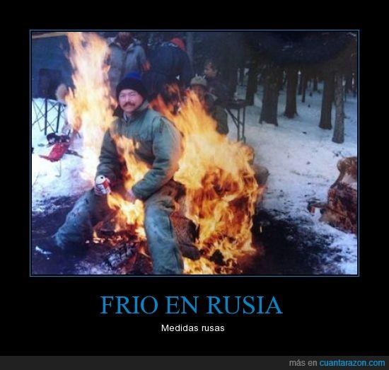 fuego,llamas,ni se inmuta,ojo a la cerveza,rusia