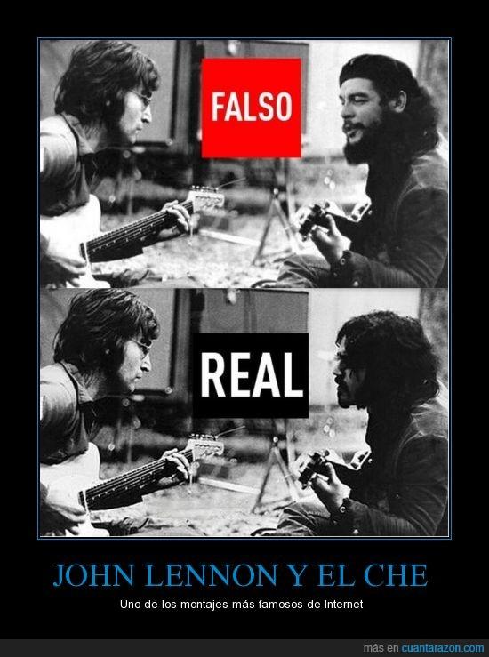 Beatles,Che,el de la foto es,fake,falso,guitarra,John Lennon,Montaje,real,Wayne 'Tex' Gabriel