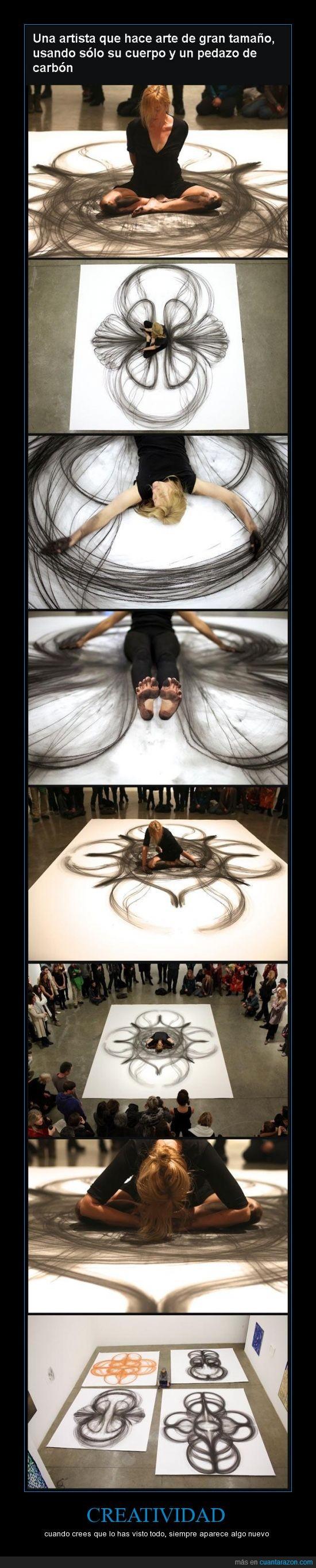 aparece,arte,carbon,creatividad,cuerpo,siempre