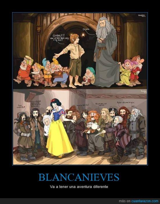 aventura,Bilbo,Blancanieves,Disney,El Hobbit,enanos,Gandalf,intercambio