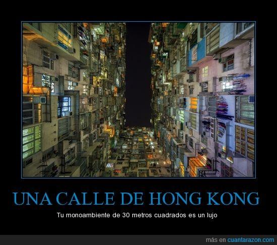 calle,Hong Kong,monoambiente,sobrepoblacion