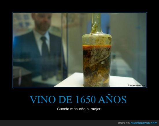 1650 años,añejo,debe saber a mier%a,romano,sin abrir,vino
