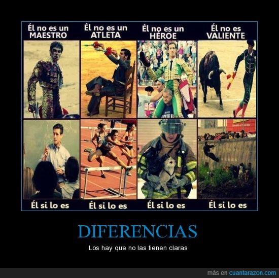 Atletas,Como puden Llamarle Arte?,Diferencia,Heroes,Maestros,Matar,Tener en claro,Toreros Asesinos,Valientes