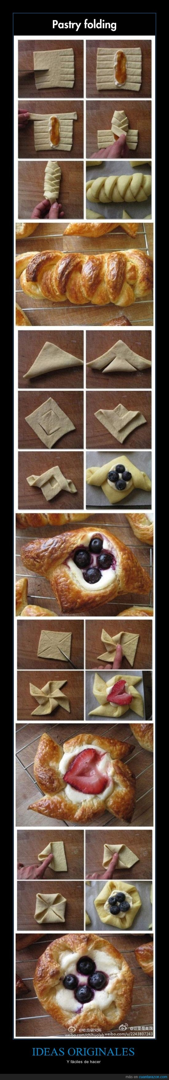crear,forma,hojaldre,masa,papiroflexia repostera,pastelitos,qué hambre...,receta