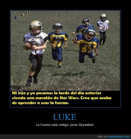 balón,fuerza,Fútbol,Luke,saltar,Skywalker,Star wars