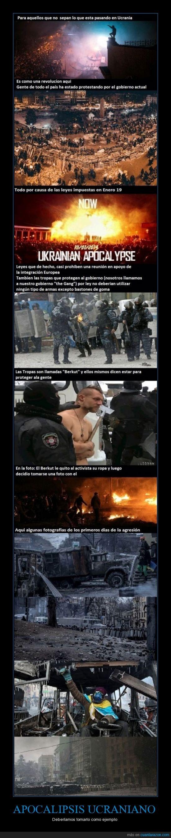 2014,apocalipsis,el gobierno temerá al pueblo,manifestacion,policia,Revolución,Ucrania