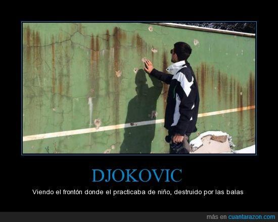 balas,deporte,Djokovic,frontón,guerra,tennis