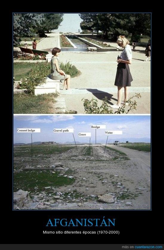1970,2000,Afghanistán,antes estaban mejor,destruccion