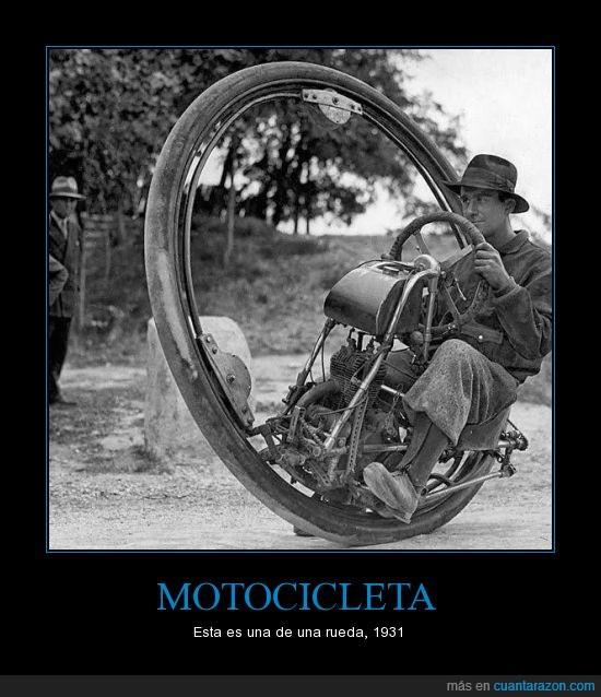 grande,motocicleta,rueda,unica