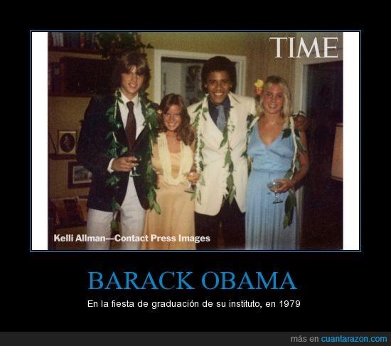 fiesta de graduación,hawaiiano,joven,Obama,peinado afro