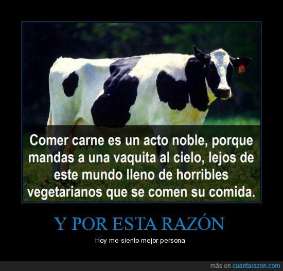 acto,carnívoro,cielo,comer,noble,vaca,vaquita,vegetariano
