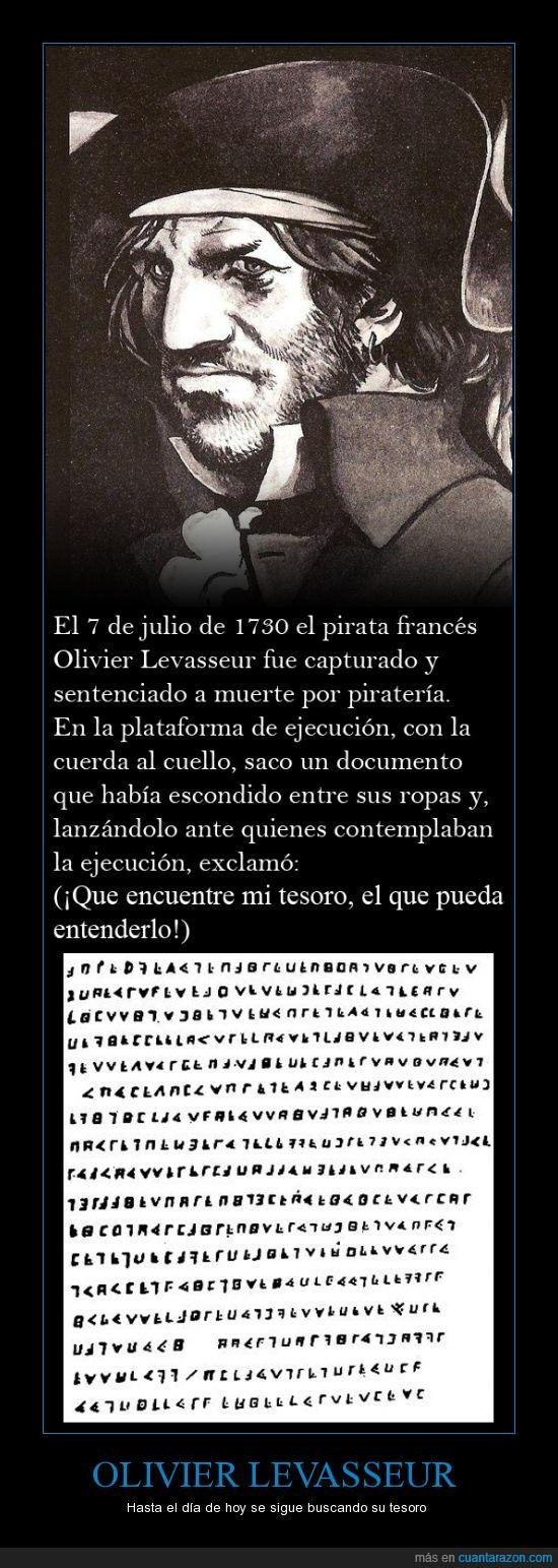 Criptograma,leyenda,Olivier Levasseur,pirata,tesoro