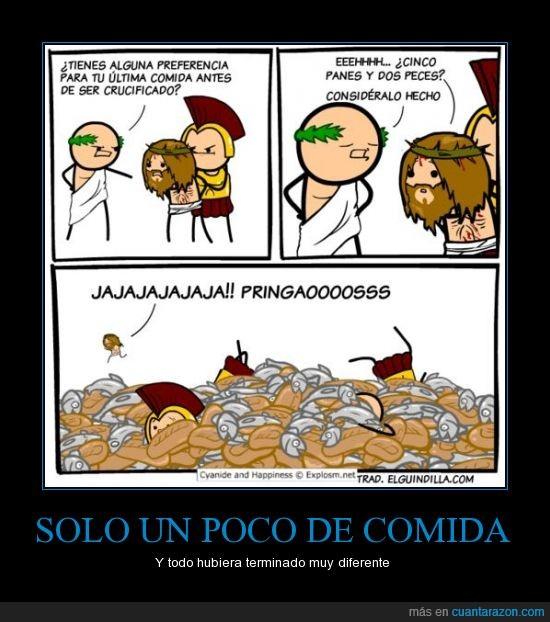 Jesus,multiplicar,panes,peces,pringados,roma,salvar,soldados