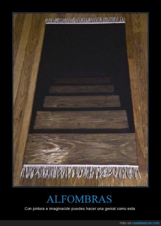 alfombra,bajar,efecto,escalera,madera,pintada,pintar,pintura