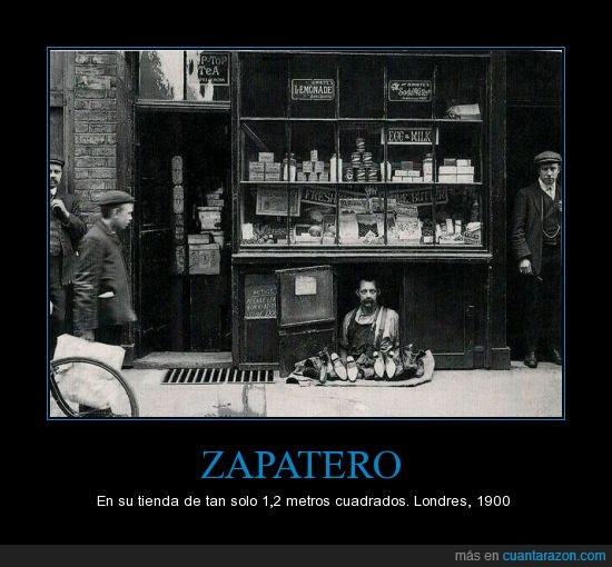 1.2 metros,1900,curiosa,foto,londres,pequeña,tienda,Zapatero