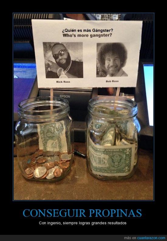 Bob Ross,dinero,Propinas,publicidad,Rick Ross
