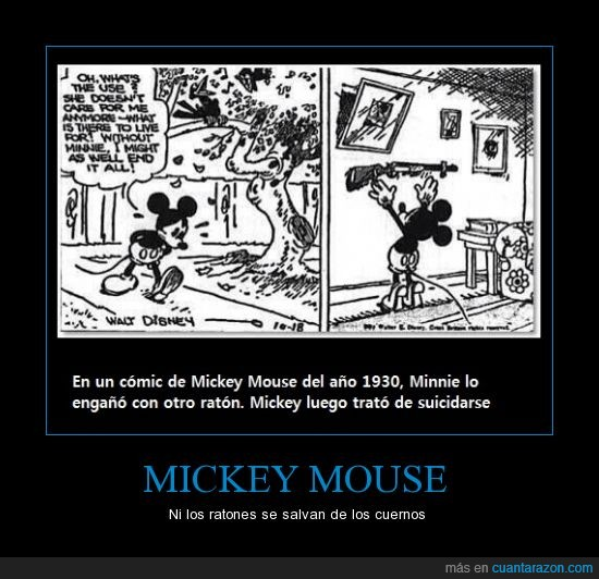 comic,cuernos,hay que saberlo,mickey,Minnie,mouse,twitter