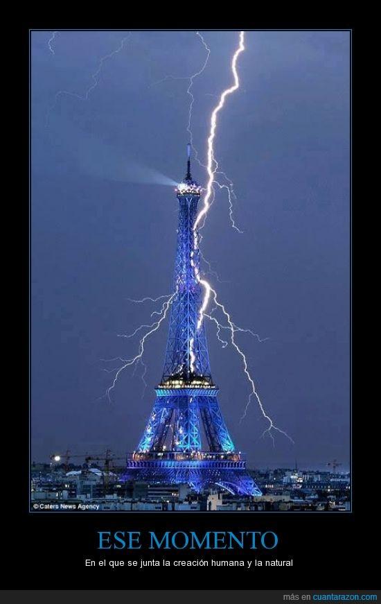 foto,increible,momento exacto,relampago,Thor 3: Las Eurovacaciones de un Dios,Torre Eiffel,trueno