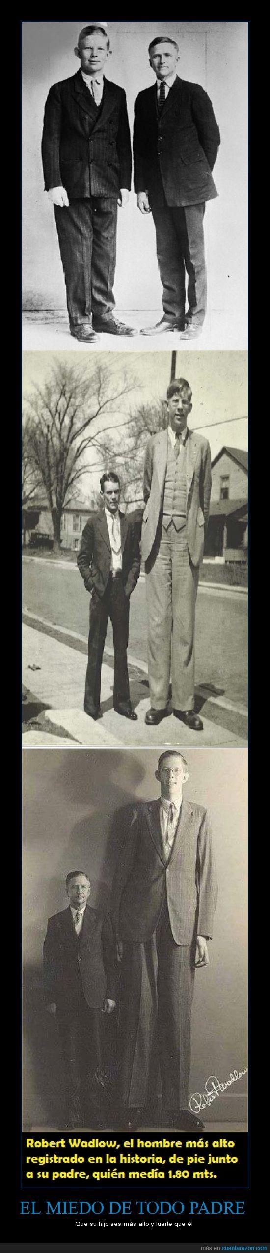 alto,hijo,más alto de la historia,Miedo,padre,Robert Wadlow