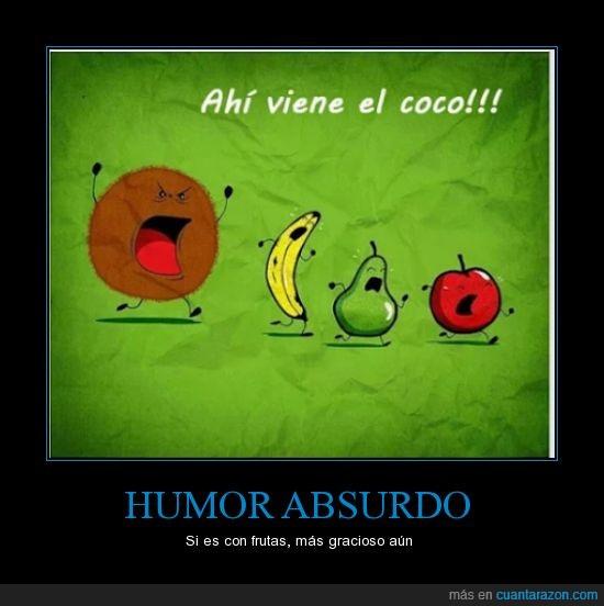 coco,frutas,humor absurdo,pera,platano,que viene el coco