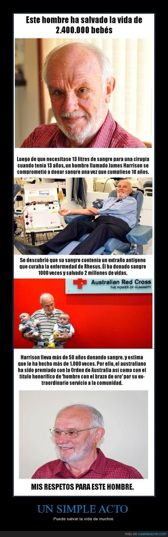 brazo de oro,Donación,heroe de muchos.,incompatibilidad,Padres rh positivo y negativo,Rhesus,sangre