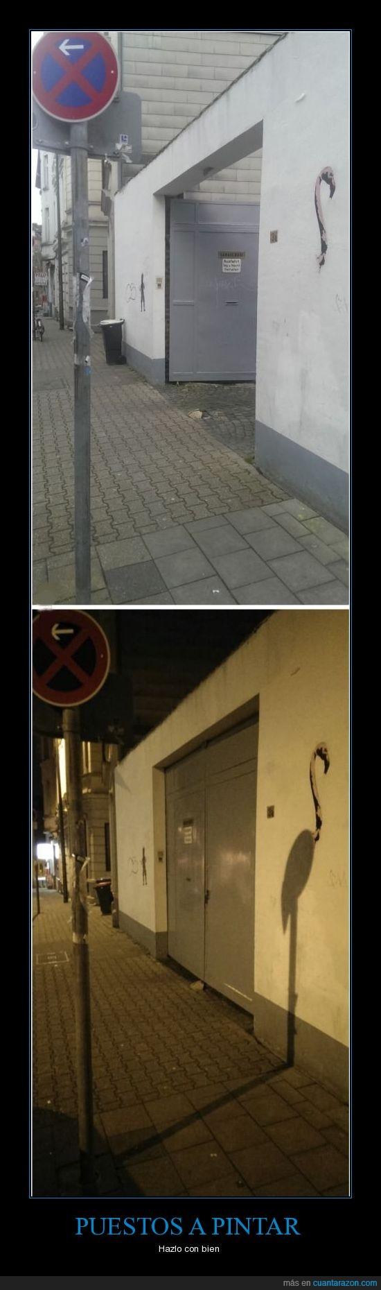 flamenco,graffiti,pintar,señal,sombra