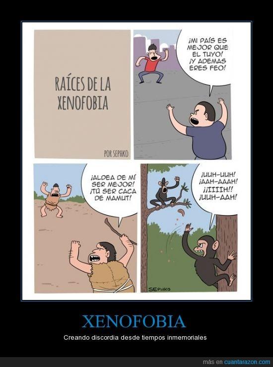 cavernicola,discordia,evolucion,mono,peleas,xenofobia