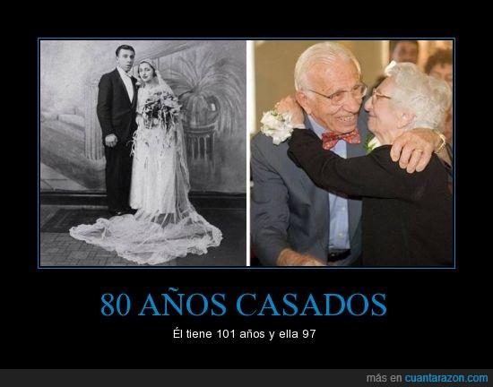 80 años de casados,ancianos,casados,longevidad