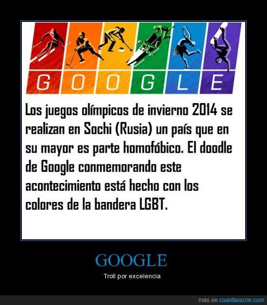 Bandera LGBT,Colores,Doodle,Google,homofobia,Rusia,Troll