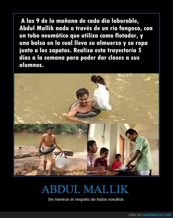abdul mallik,clases,cruzar,profesor,respeto,río