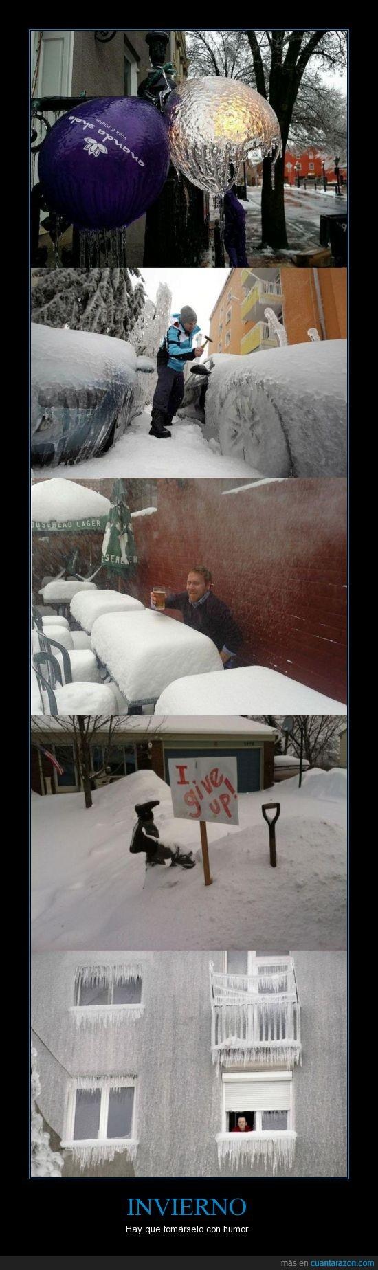 coche,enterrado,escarcha,invierno,nieve,ventana