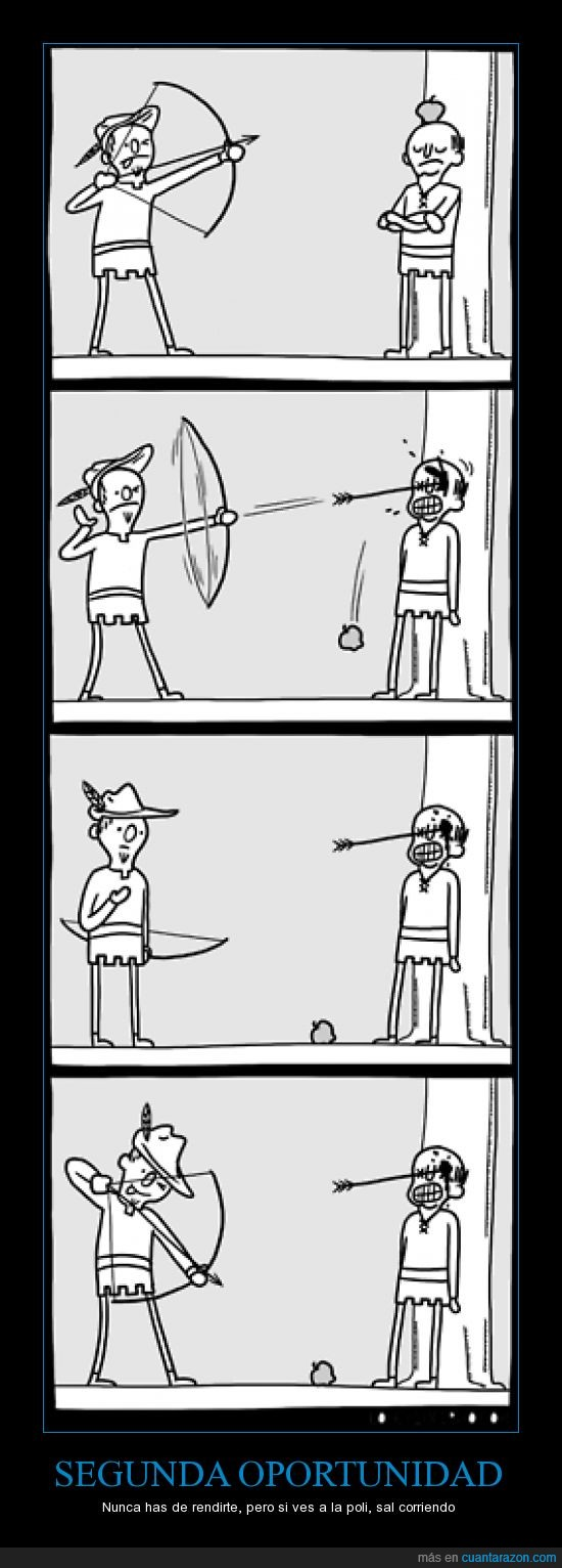 arquero,clavar,fallo,flecha,guillermo tell,manzana,ojo,segunda oportunidad