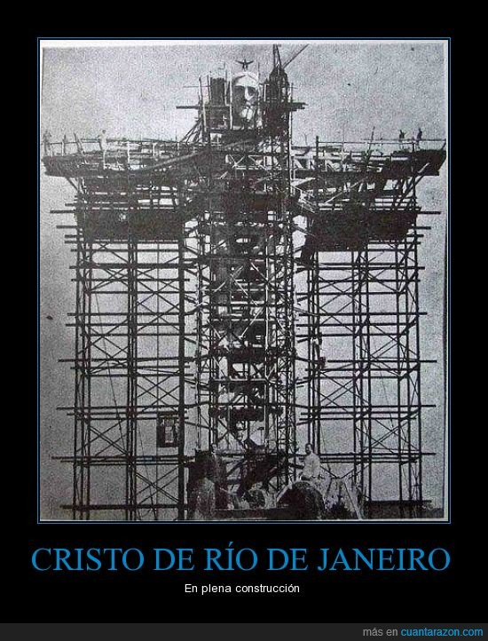 brazil,construccion,cristo de corcovado,cristo redentor,jesus,yisus