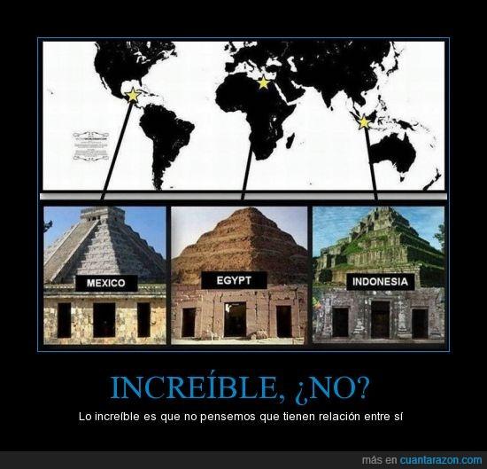 egipto,indonesia,mexico,misterio,piramides,similares