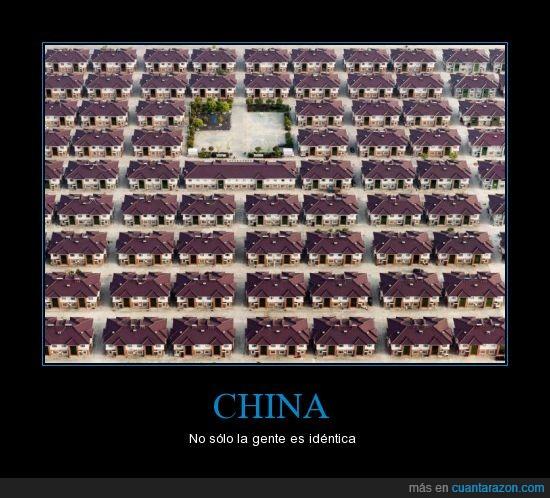 barrio,casas,china,Ctrl c + ctrl v,iguales,mi casa tiene el techo lila