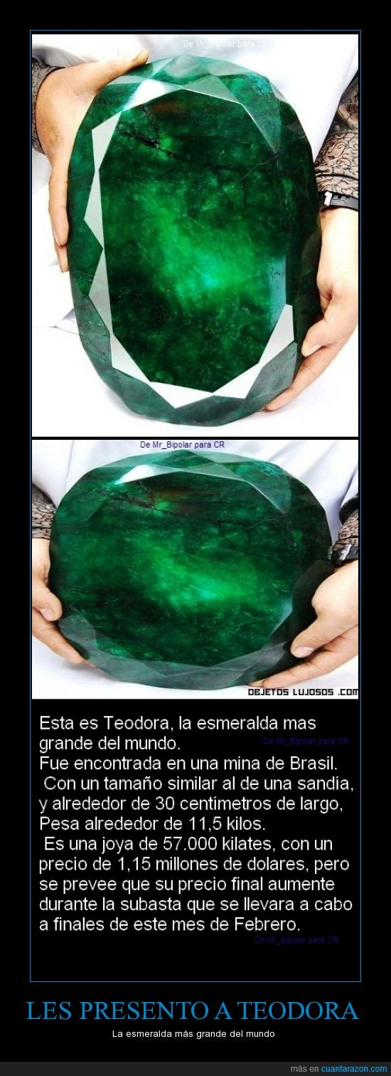 57000 Kilates,esmeralda gigante,regalo de san valentin?,Teodora