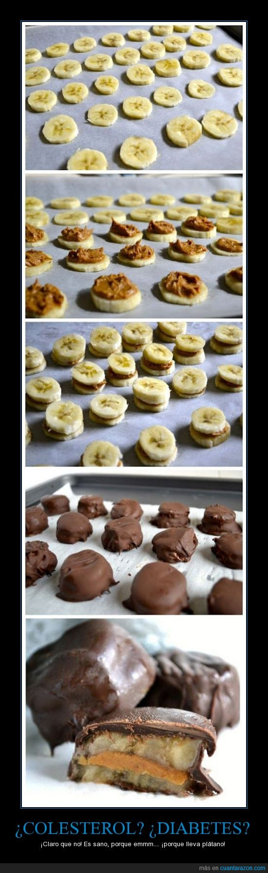 banana,bombones,chocolate,colesterol,diabetes,dulce,ñam ñam ñam ñam,platano