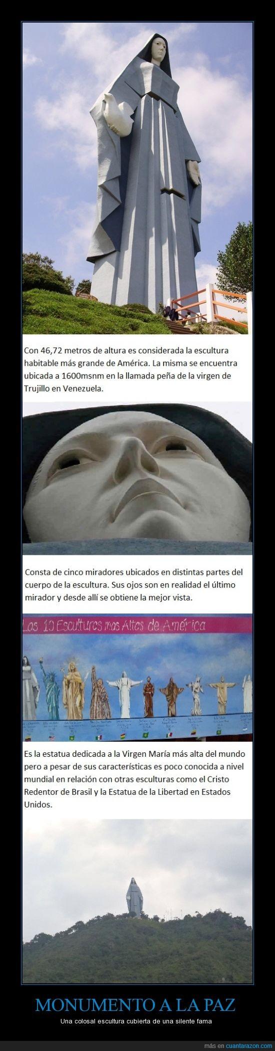 América,esculturas,Monumentos,Paz,Venezuela,Virgen