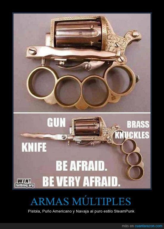 como te enganche,matar,navaja,pistola,Puño americano,SteamPunk,te va a enganchar bien enganchau