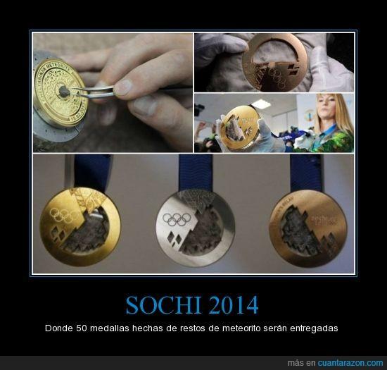 atletas,juegos de invierno,medallas,meteorito,premio,sochi