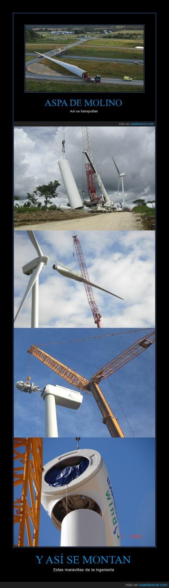 aspa,ingeniería,molino,montaje,montar,viento