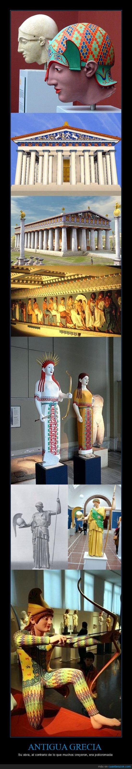 Antigua Grecia,Arquitectura,Busto,Color,Estatuas,Friso,Guerreros,Koré,Mármol,Olimpia,Partenón,Piedra,Policromado