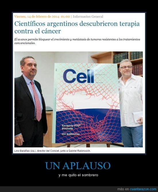 argentina,argentinos,cáncer,ciencia,cientificos,descubrieron,medicina,terapia