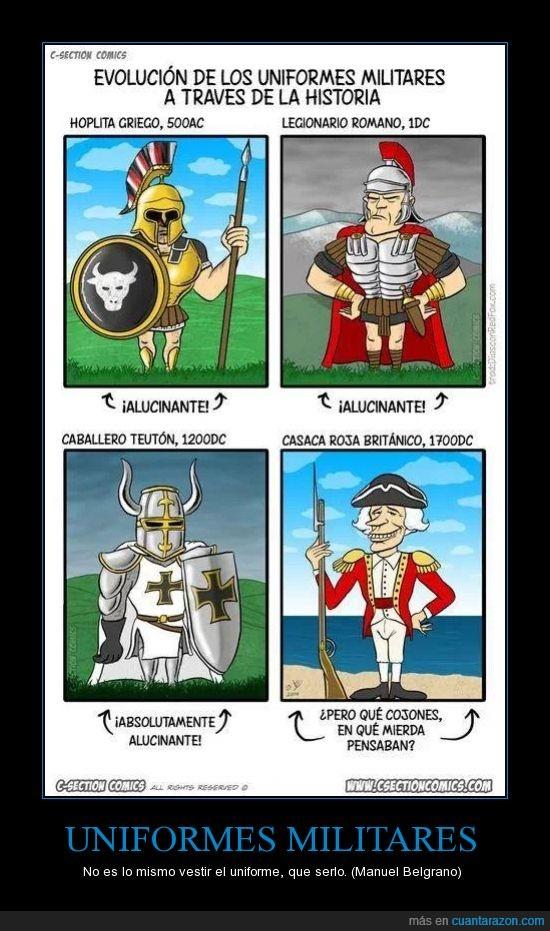 britanicos,griegos,romanos,teutones,Uniformes militares