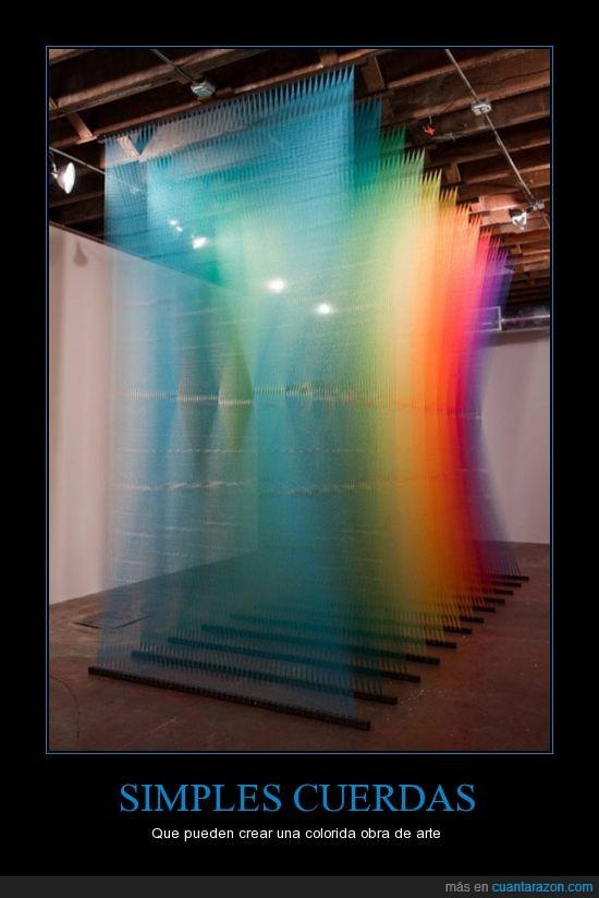 arco iris,arte,colores,colorido,Cuerda