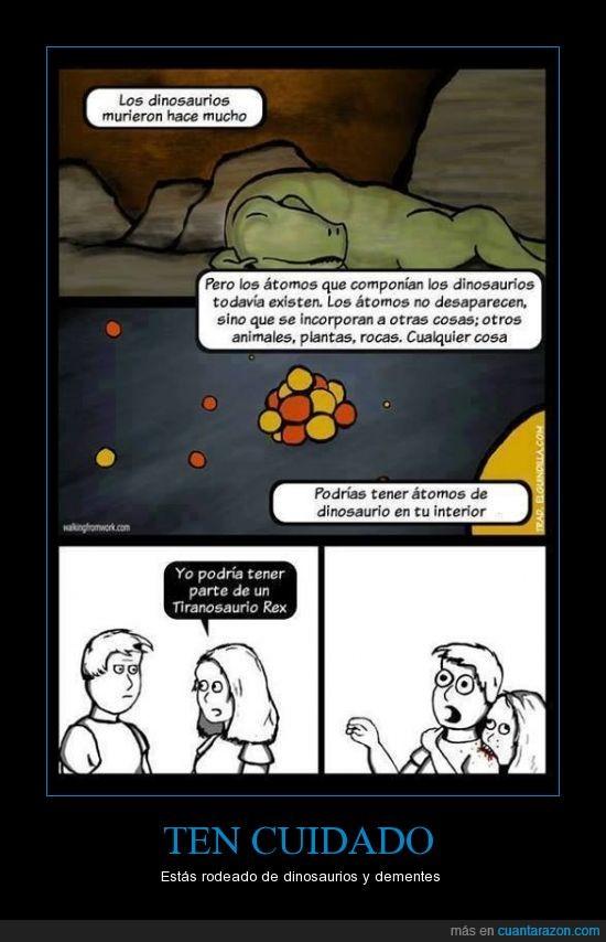 atomos,demente,Dinosaurios,extinguir,morder,T-Rex