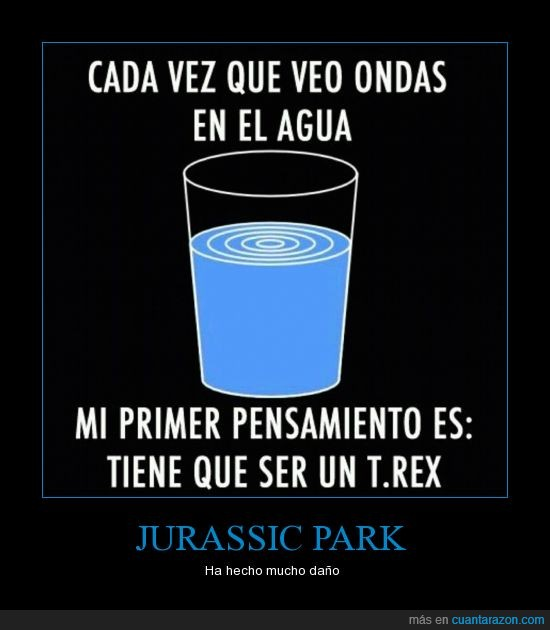 agua,daño,dinosaurio,jurassic park,onda,parque jurasico,t-rex,trex