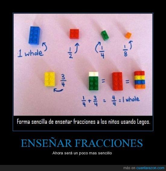aprender,colegio,colores,dividir,escuela,ficha,fracciones,lego,pieza