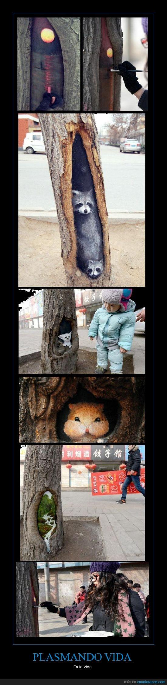 animales,árboles,arte,decorar,dibujo,lago,mapache